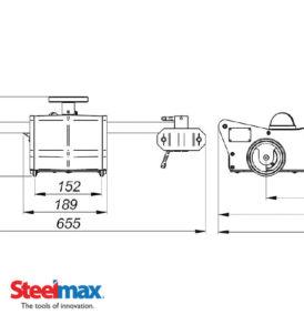 Torch Runner Track Cutting Machine - Dimensions - SteelMax